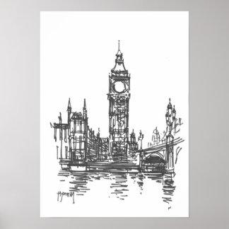 Impresión de Big Ben Londres Póster