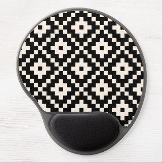 Impresión de bloque azteca del estilo - negro y alfombrilla gel
