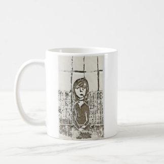 Impresión de bloque de Untitle Girlie #2 Taza De Café