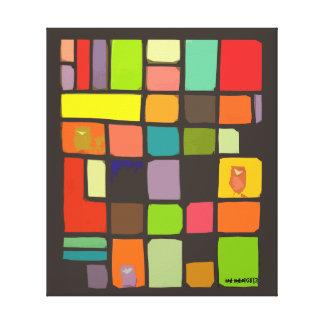 Impresión de bloque estilizada del color por el id lienzo envuelto para galerias