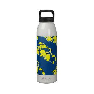 Impresión de bloque tropical - botella de agua de