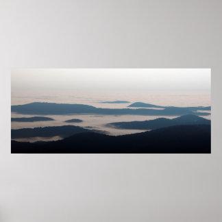 Impresión de Blue Ridge Mountains Poster