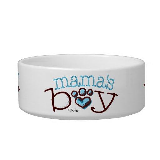 Impresión de Boy Cat Blue Paw de mamá Tazón Para Agua Para Gatos
