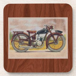 Impresión de bronce de la motocicleta del vintage posavaso