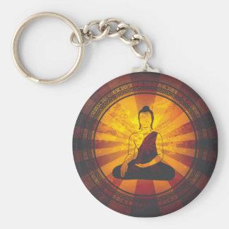 Impresión de Buda del vintage Llavero Redondo Tipo Pin