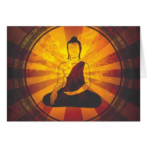 Impresión de Buda del vintage Tarjeta