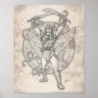 Impresión de Camael del arcángel Póster