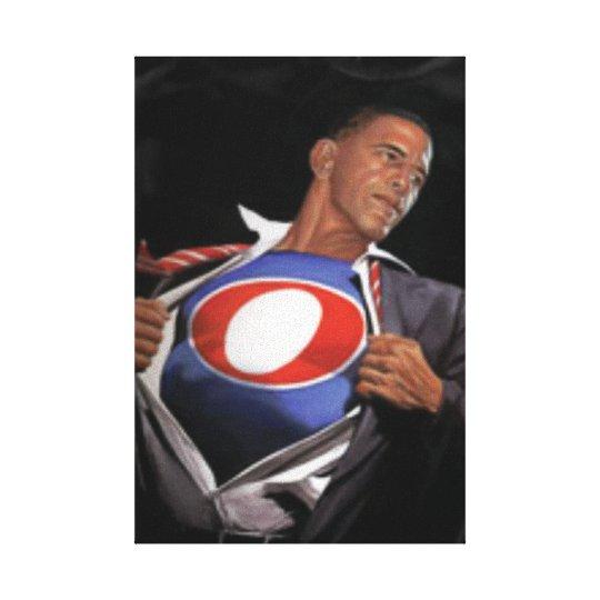 Impresión de Canvas de presidente Obama Reelected