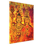 Impresión de Canvas de señor Shiva Parvati Stretch Lona Envuelta Para Galerías