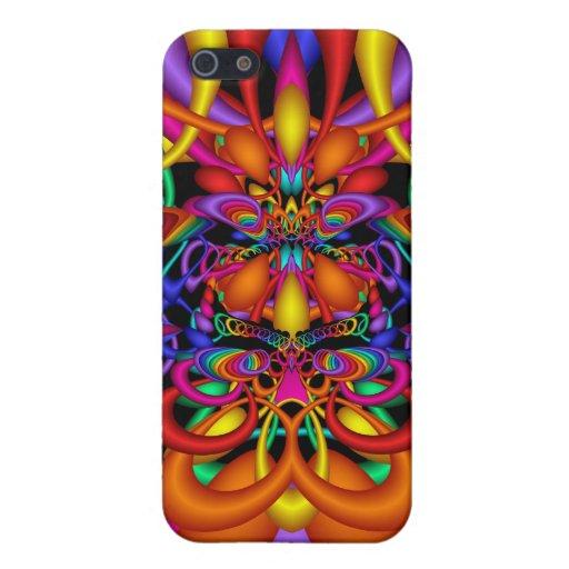 Impresión de carnaval, extracto colorido iPhone 5 funda