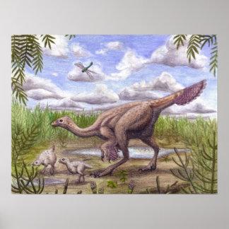 Impresión de Caudipteryx Póster
