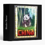 Impresión de China de la panda del vintage de la c