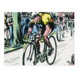 Impresión de ciclo del vintage postales
