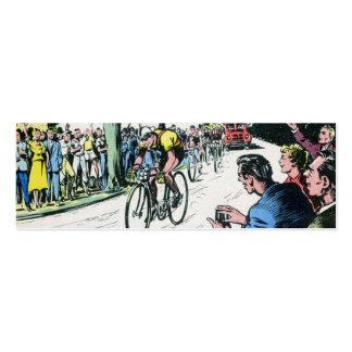 Impresión de ciclo del vintage tarjetas de visita mini