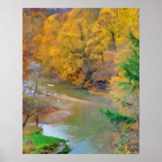 Impresión de colores del otoño posters