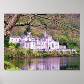 Impresión de Connemara de la abadía de Kylemore Poster