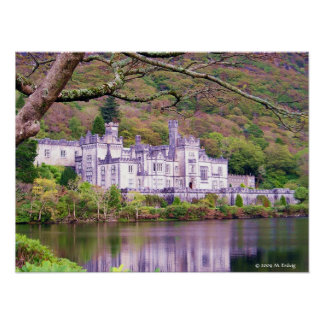 Impresión de Connemara de la abadía de Kylemore Póster