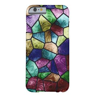 Impresión de cristal de la mancha colorida del funda de iPhone 6 barely there