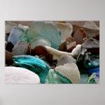 Impresión de cristal de los cascos del mar impresiones