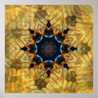 Impresión de cristal del arte de la mandala del ma póster