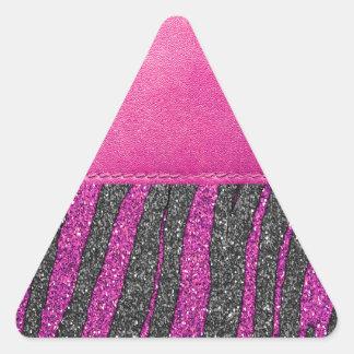 Impresión de cuero rosada femenina del brillo del calcomanías trianguloes