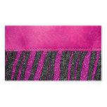 Impresión de cuero rosada femenina del brillo del  plantillas de tarjetas de visita