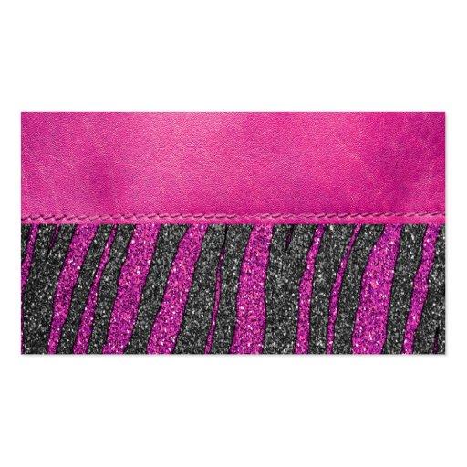 Impresión de cuero rosada femenina del brillo del  tarjetas de visita