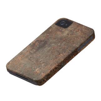 Impresión de cuero sucia vieja iPhone 4 Case-Mate cárcasas
