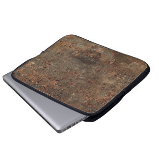 Impresión de cuero vieja mangas portátiles