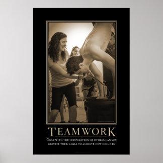 Impresión de Demotivational del trabajo en equipo Poster