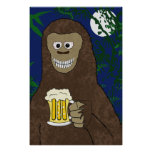 Impresión de Drinkin Bigfoot Poster