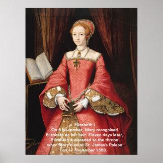 Impresión de Elizabeth I Póster