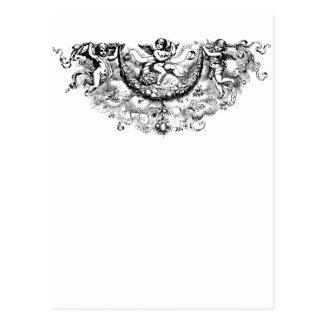 Impresión de encargo de cherub fleur di lis de las tarjetas postales