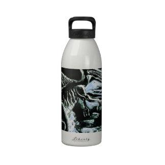 ¡Impresión de encargo de Deinos Sauros-! Botellas De Agua Reutilizables