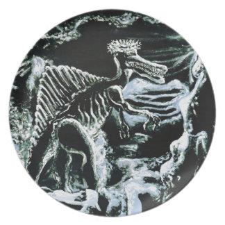 ¡Impresión de encargo de Deinos Sauros-! Plato De Comida