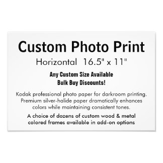 """Impresión de encargo de la foto - 16,5"""" x cojinete"""