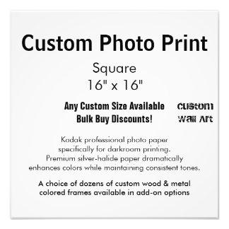 """Impresión de encargo de la foto - ajuste 16"""" x 16"""" fotografía"""