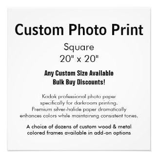 """Impresión de encargo de la foto - ajuste 20"""" x 20"""" fotografía"""
