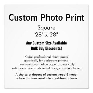 """Impresión de encargo de la foto - ajuste 28"""" x 28"""" fotografía"""