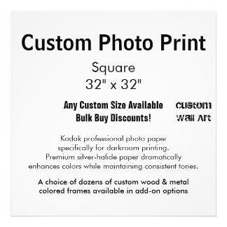 """Impresión de encargo de la foto - ajuste 32"""" x 32"""" fotografía"""