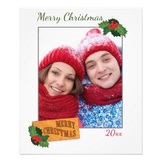 Impresión de encargo de la foto del navidad con la cojinete