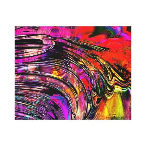 Impresión de encargo de la lona chapoteo del color lona envuelta para galerías