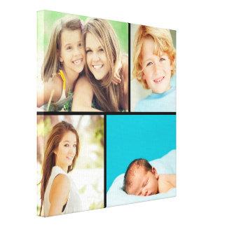 Impresión de encargo de la lona del collage de la  lona envuelta para galerias