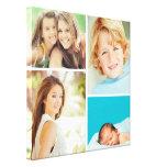 Impresión de encargo de la lona del collage de la  impresión en lienzo estirada
