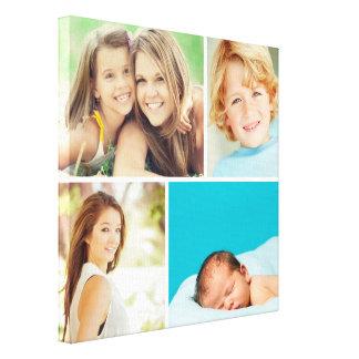 Impresión de encargo de la lona del collage de la  lienzo envuelto para galerías
