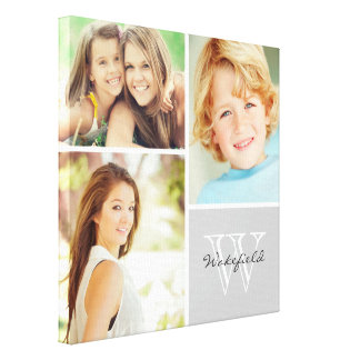 Impresión de encargo de la lona del collage de la  lona envuelta para galerías