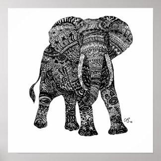 Impresión de encargo del arte de Elephantastic Poster