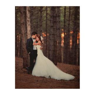 Impresión de encargo del arte de la foto del boda impresión en madera