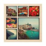 Impresión de encargo del collage de la foto de Ins Impresión En Madera