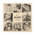 Impresión de encargo del collage de la foto de cuadro de madera